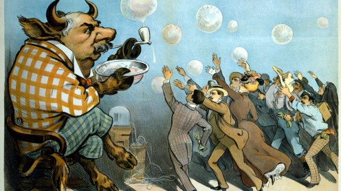 """Wall street bubbles - always the same"", par Udo Keppler (1901) -  ©DR"